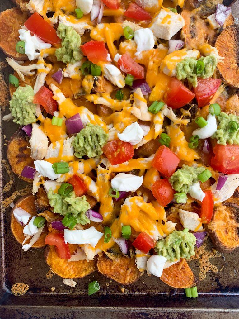 healthier sweet potato nachos