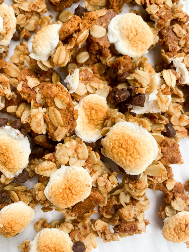 a closeup of the granola