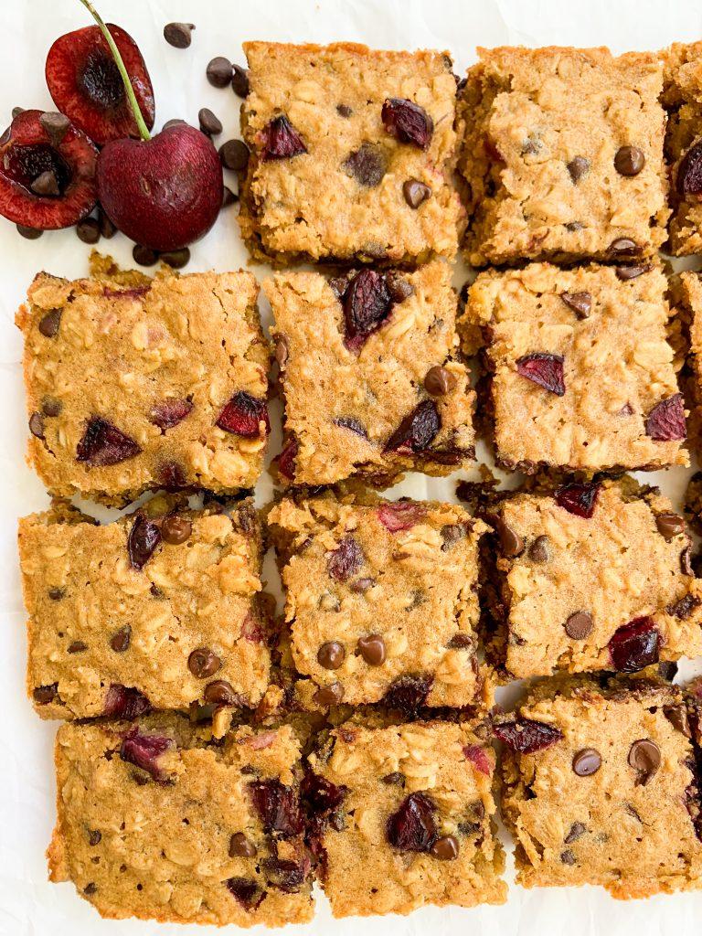 chocolate cherry oat bars
