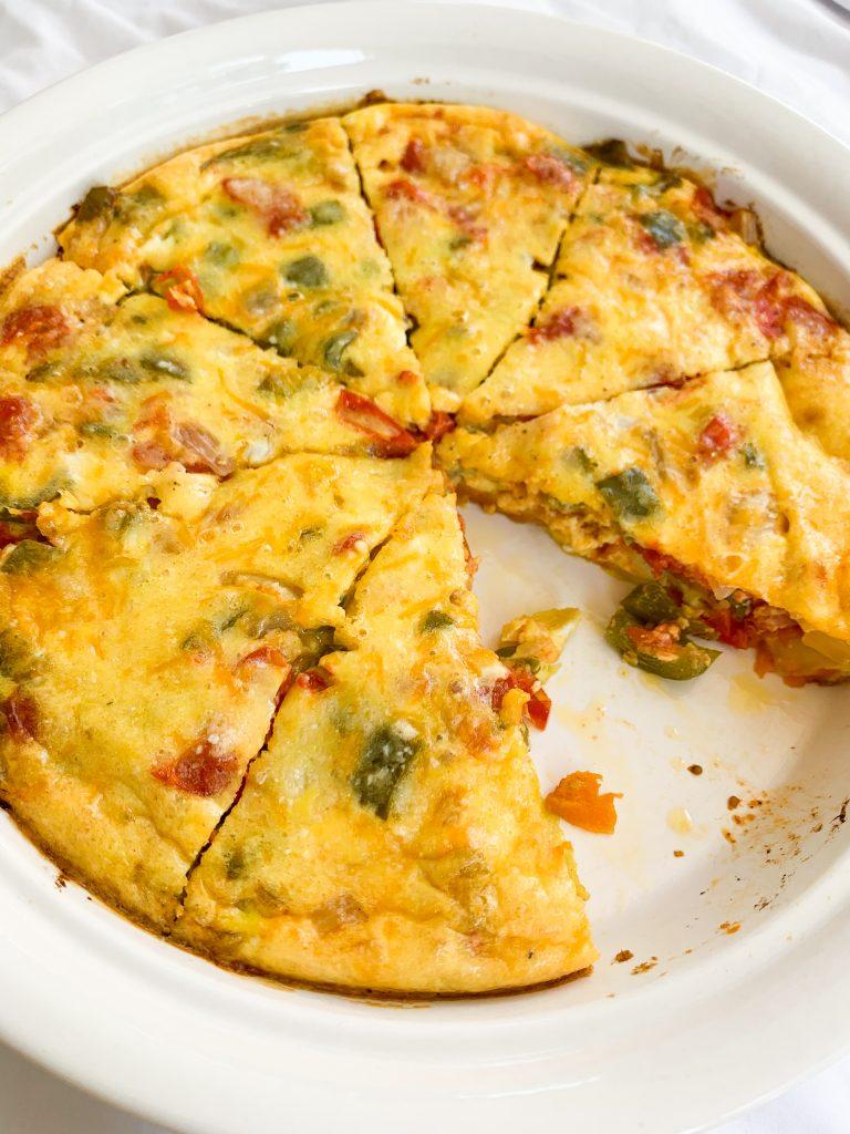 sweet potato veggie egg bake