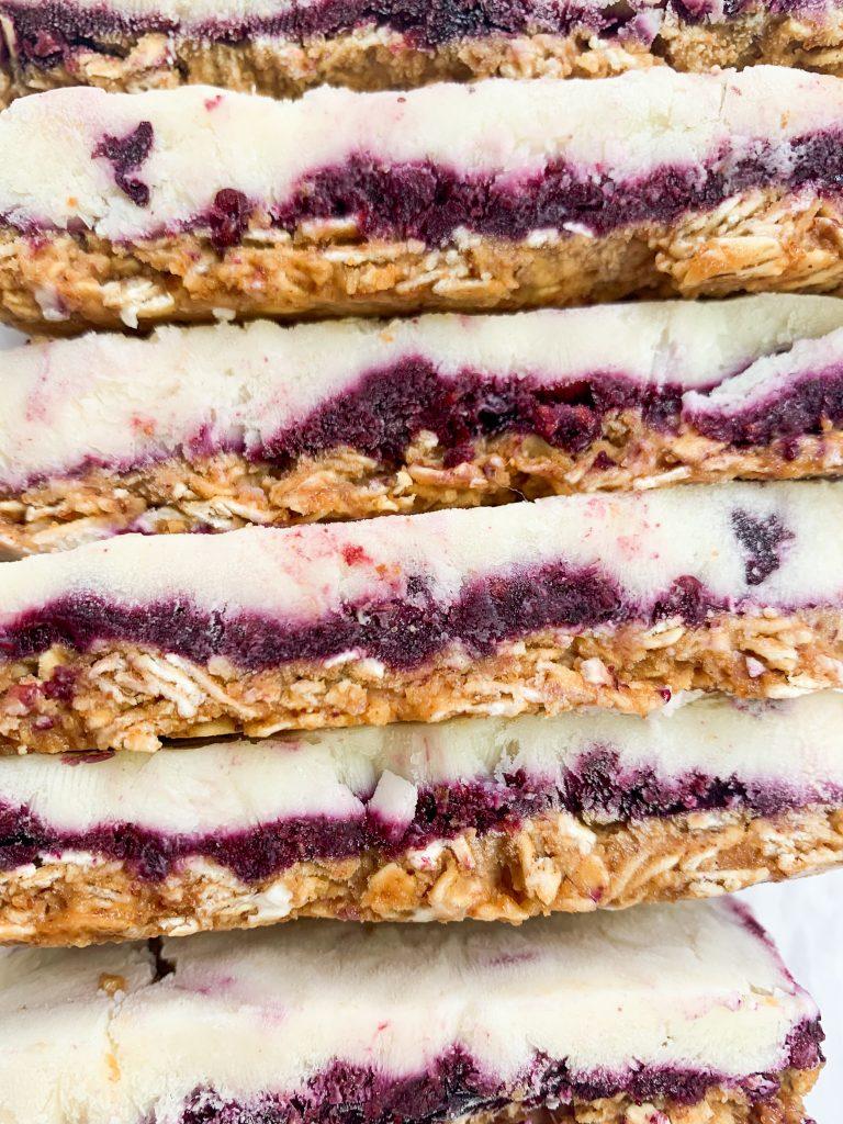 no bake frozen yogurt bars