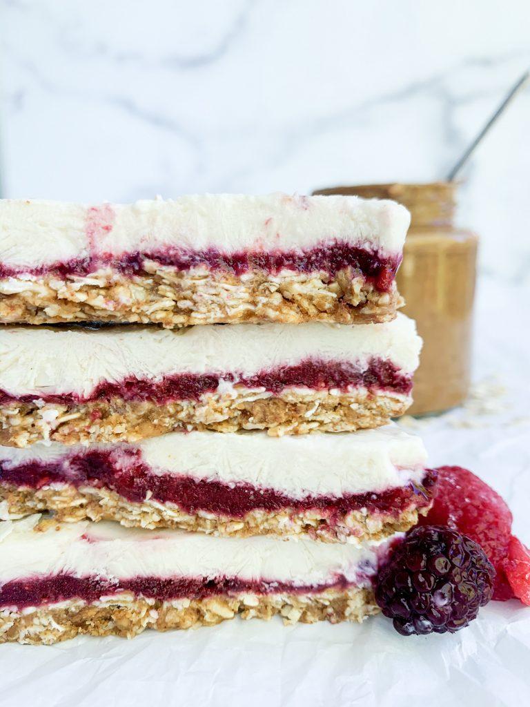 stack of yogurt granola bars