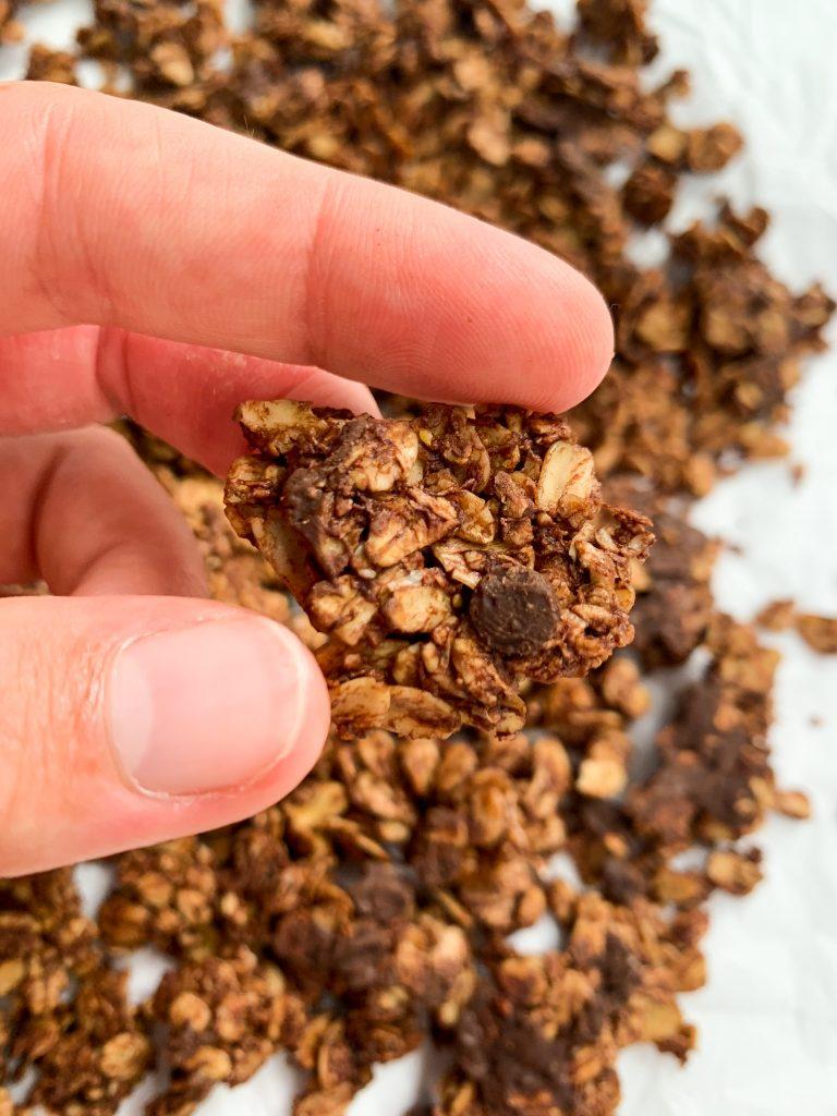 vegan, gluten free, low sugar granola