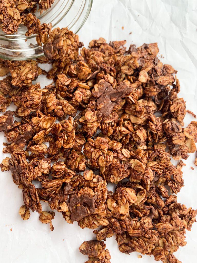 homemade chocolate coconut granola