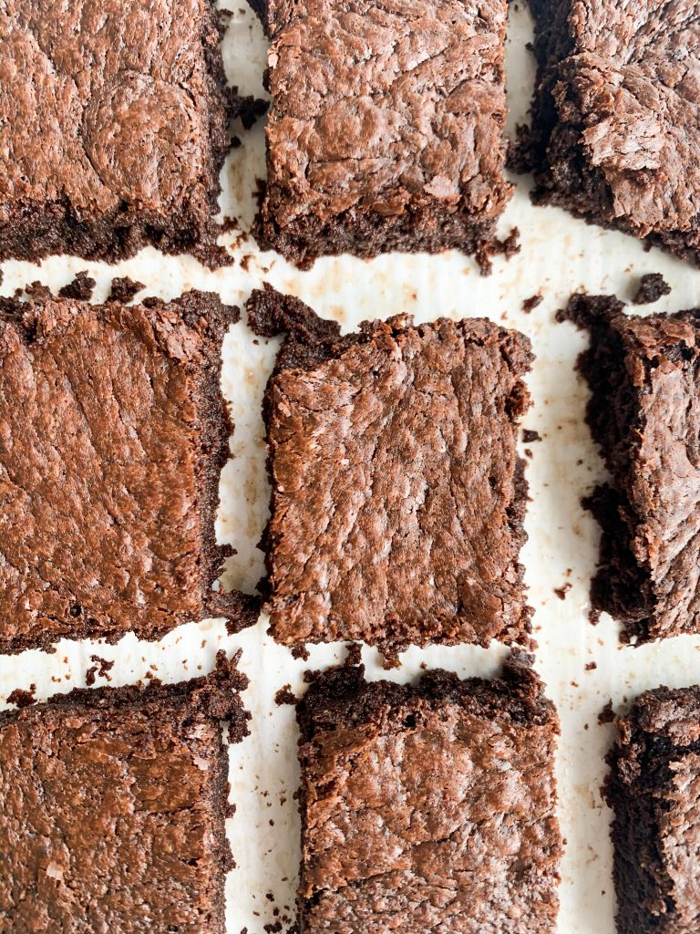 perfectly fudgy dairy and gluten free brownies