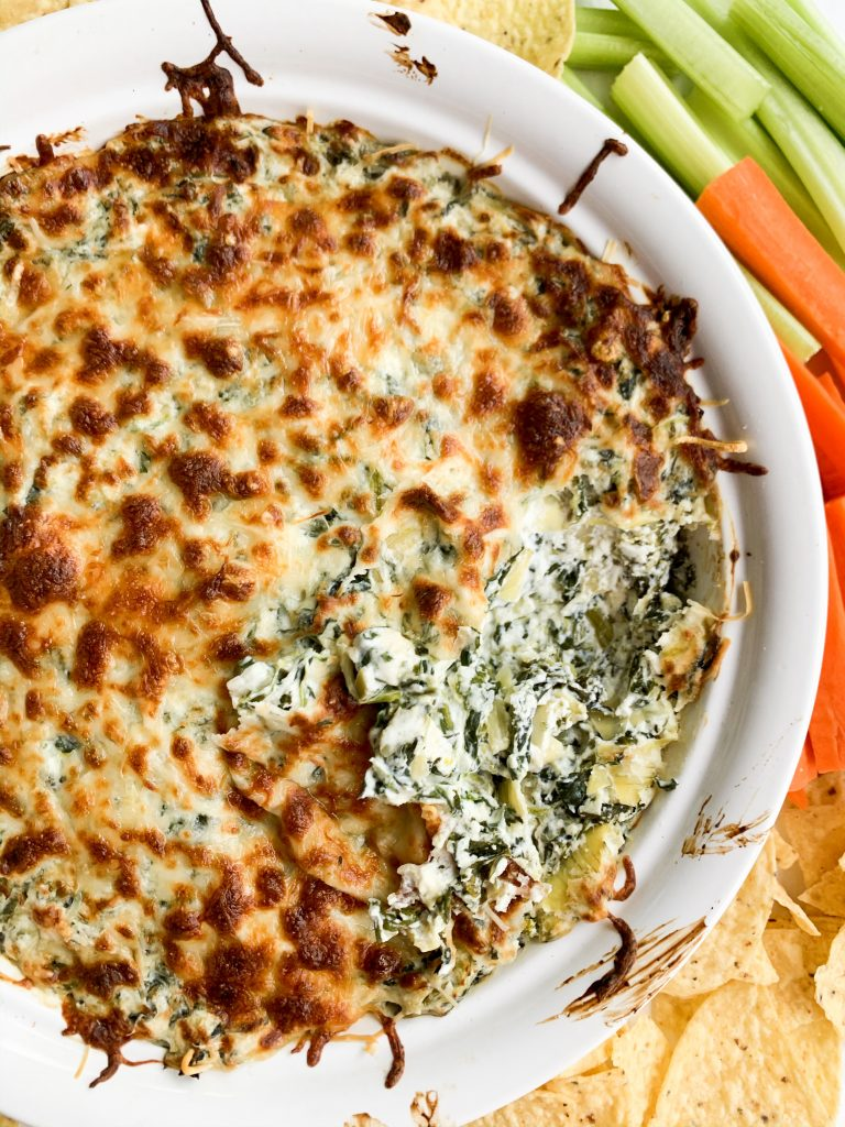 healthy spinach and artichoke dip