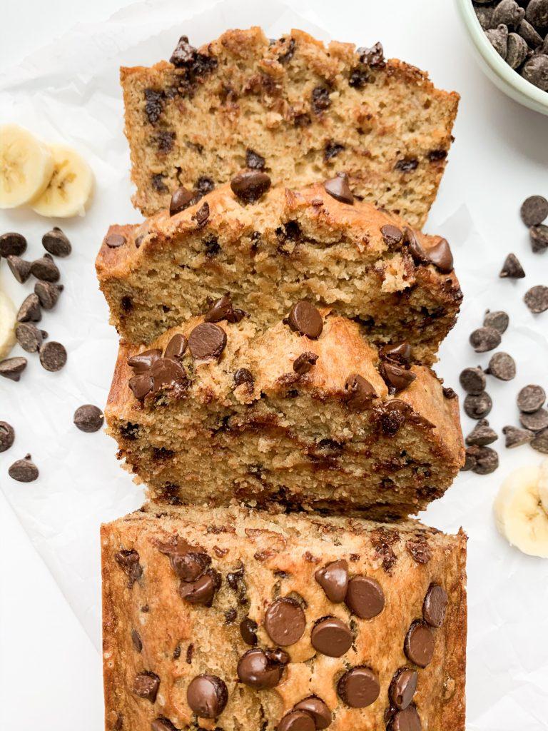easy chocolate chip banana bread