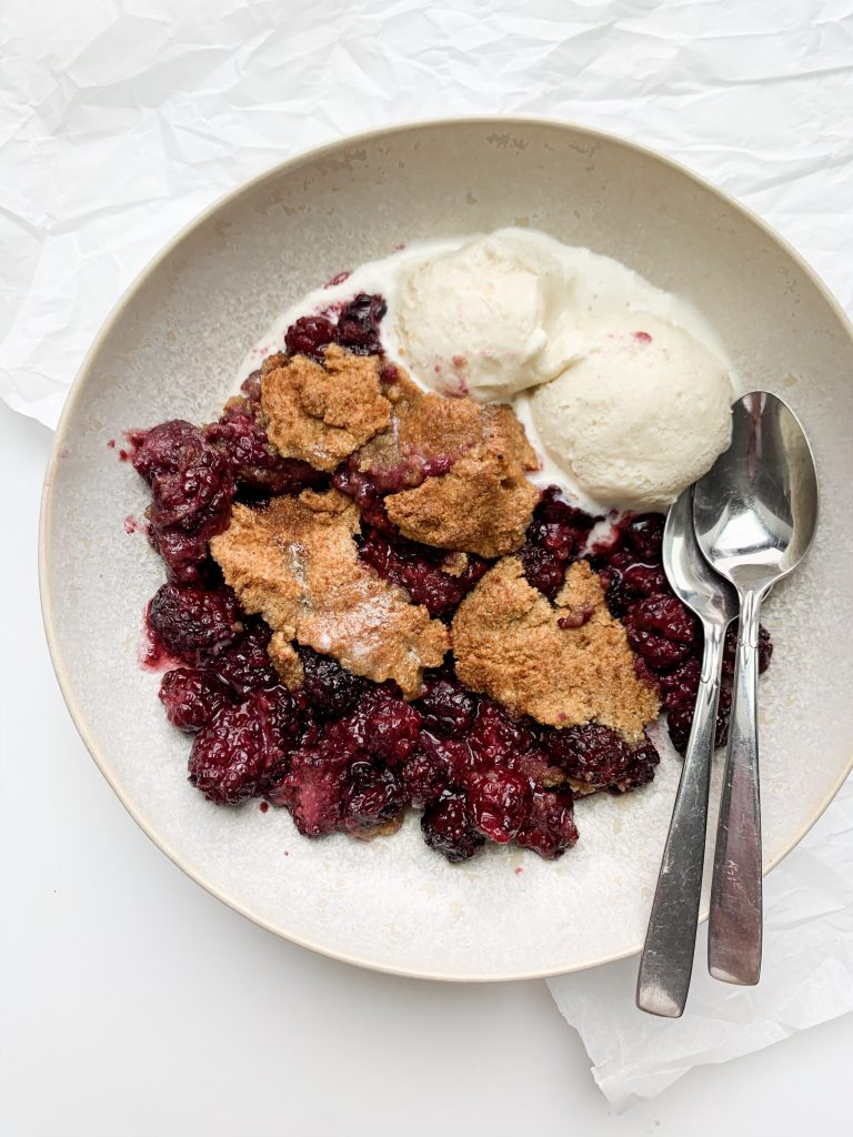 bowl of healthy cobbler