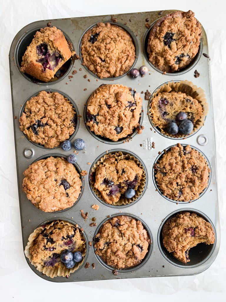 blueberry crumb muffins
