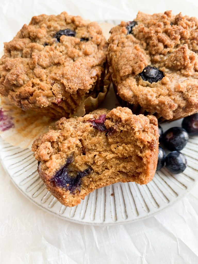 close up shot of a blueberry muffin