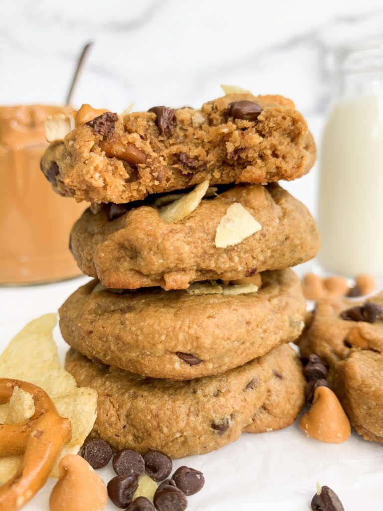 a stack of kitchen sink cookies