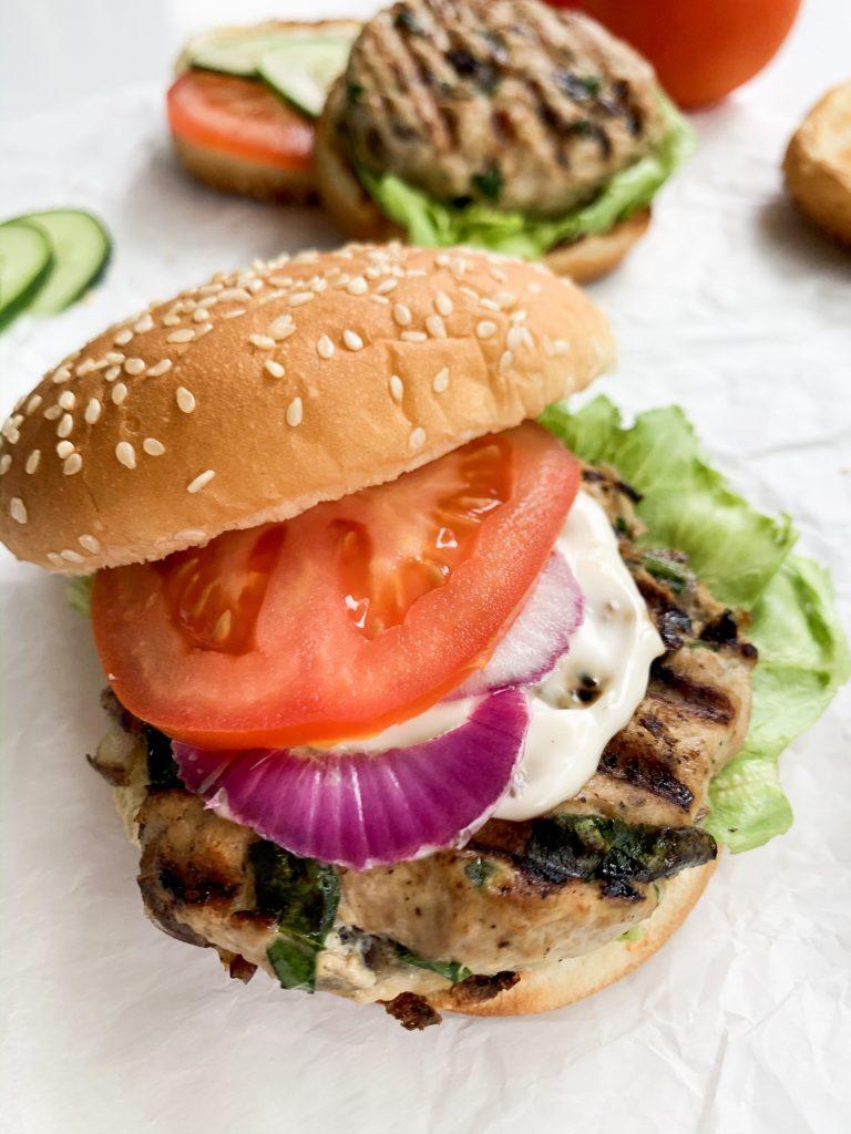 spinach & feta turkey burgers