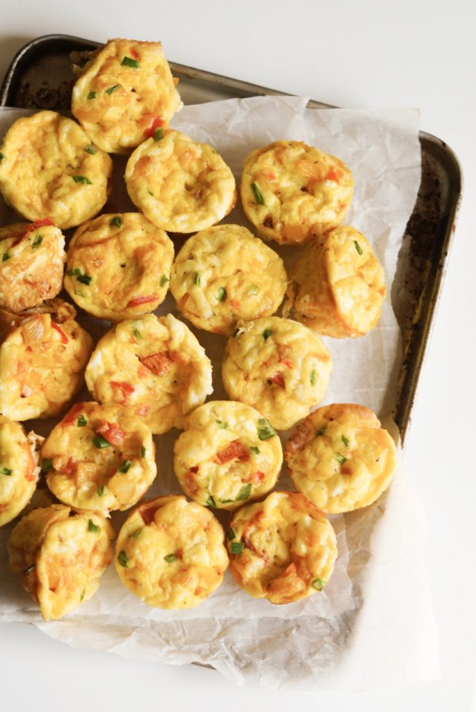 cream cheese & veggie egg bites
