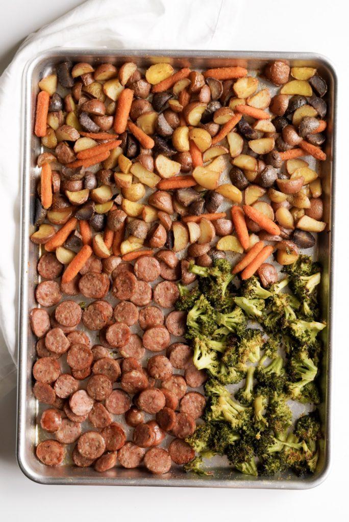 chicken sausage sheet pan dinner