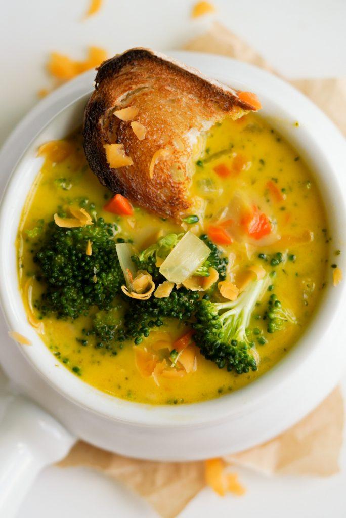 lightened up broccoli cheddar soup