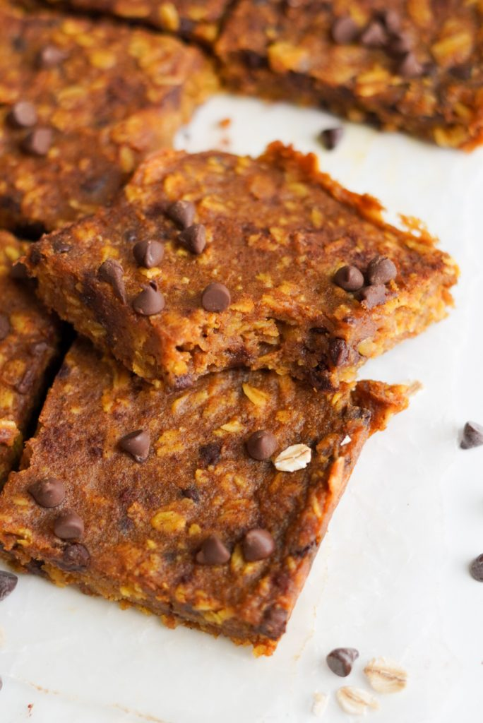 healthy pumpkin oatmeal bars