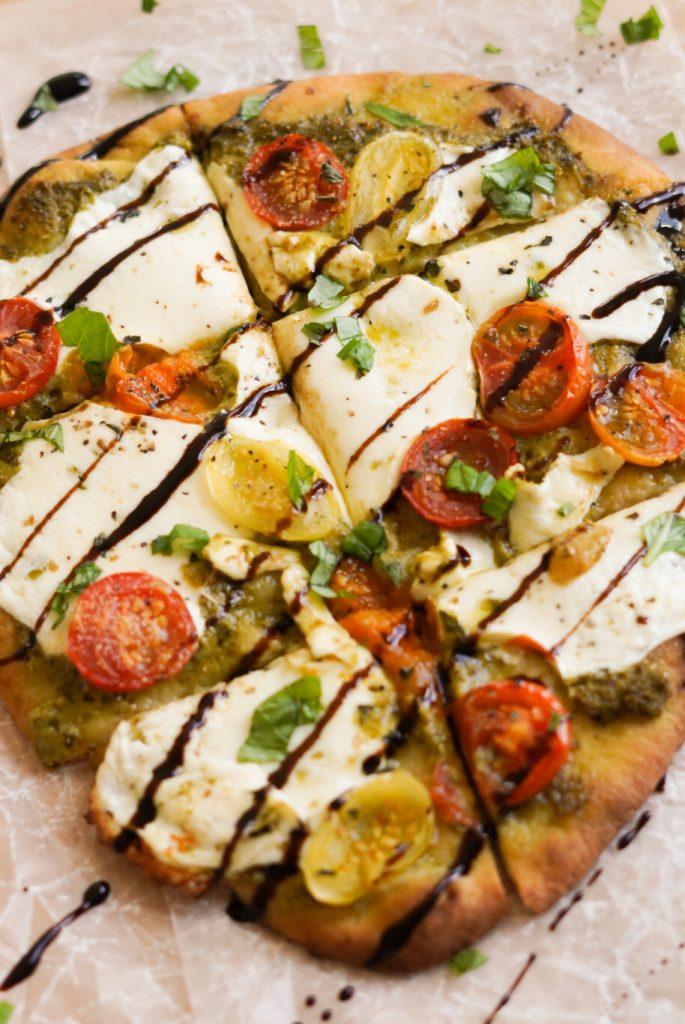 pesto flatbread pizzas