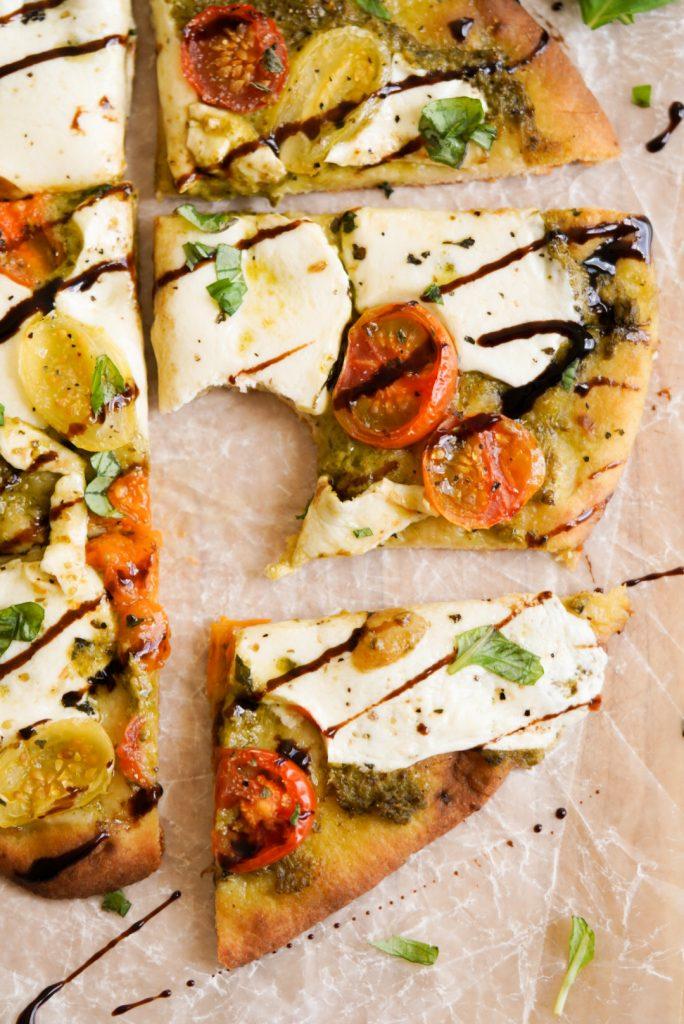pesto pizza flatbread